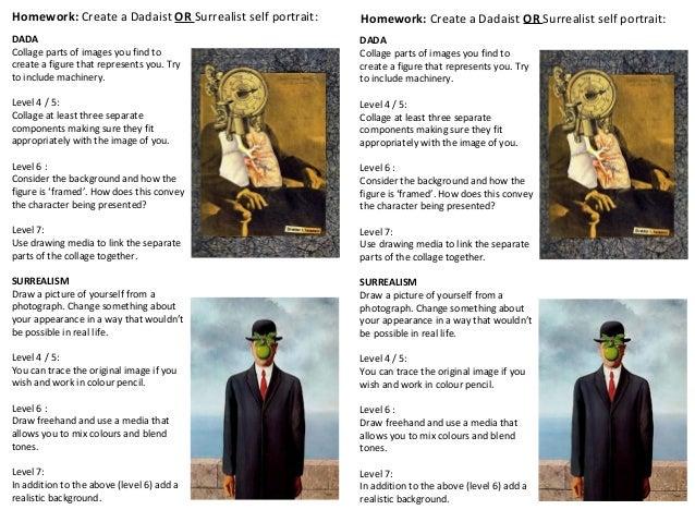 Dada & Surrealism Homework Task