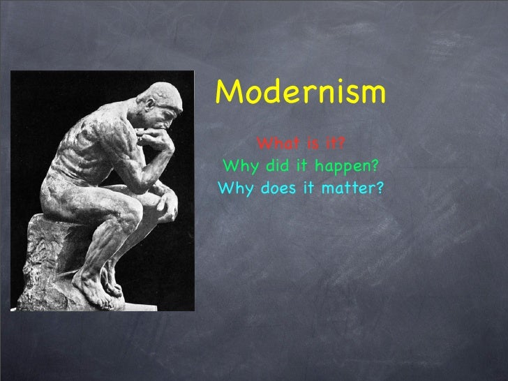 Modernism Lecture