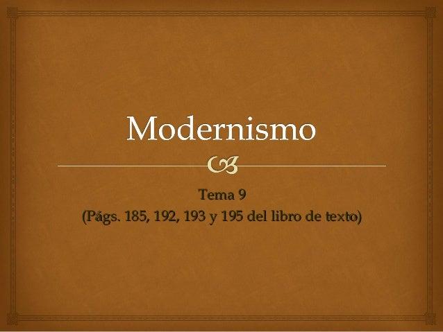 Tema 9(Págs. 185, 192, 193 y 195 del libro de texto)