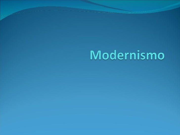 Modernismo Novo