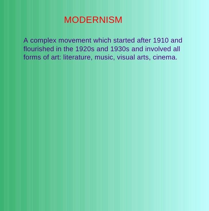 Modernist poetry