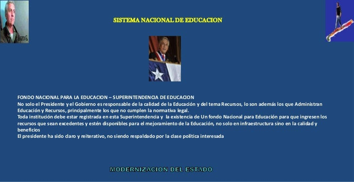 Modernizacion del estado, la educacion chilena