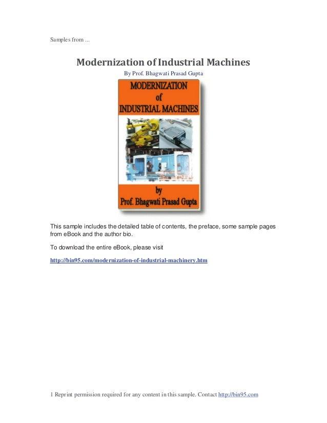 Modernization of Industrial Machines ebook sample