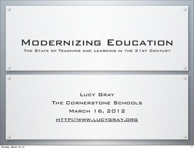 Modernizing Education