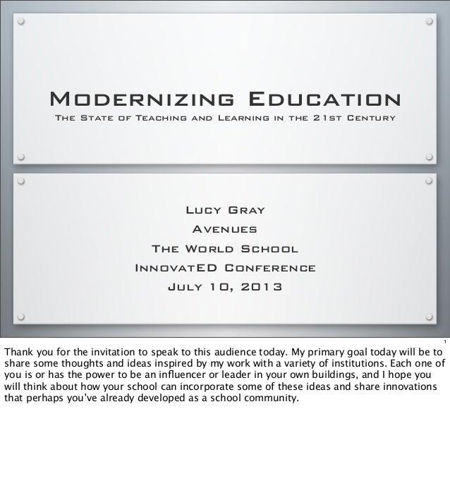 Modernizing Education at #innov8ED