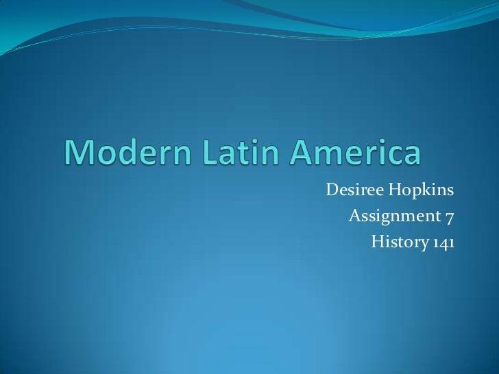 Modern latin america assignment 7 history 141