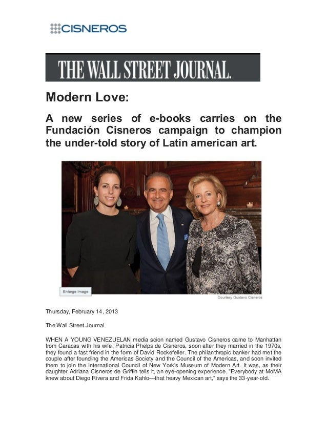 Modern Love:A new series of e-books carries on theFundación Cisneros campaign to championthe under-told story of Latin ame...