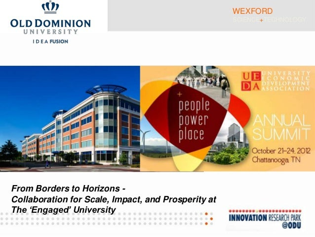 WEXFORD                                                     SCIENCE+TECHNOLOGYFrom Borders to Horizons -Collaboration for ...