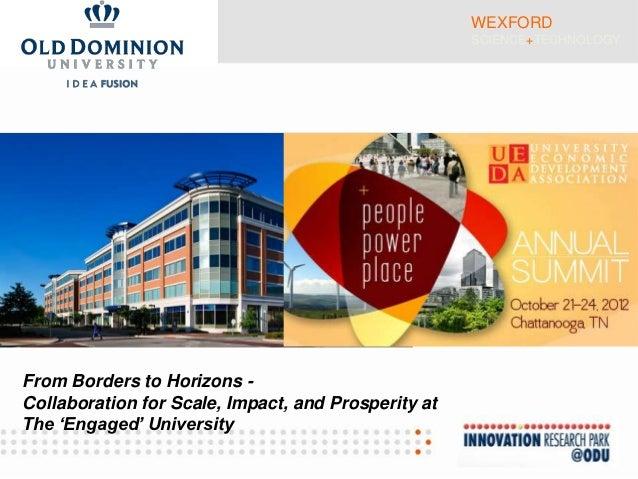 UEDA Summit 2012: Modern Measurement of 21st Century University-Based Entrepreneurship (Provance & Osha)
