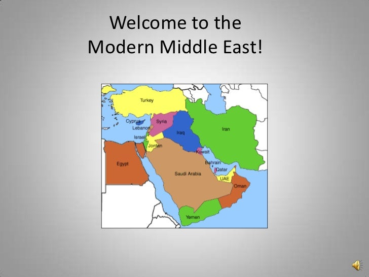 Welcome to theModern Middle East!