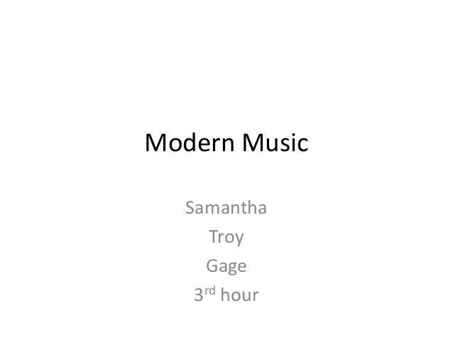 Modern music final