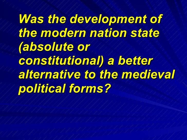 Modern nationstate