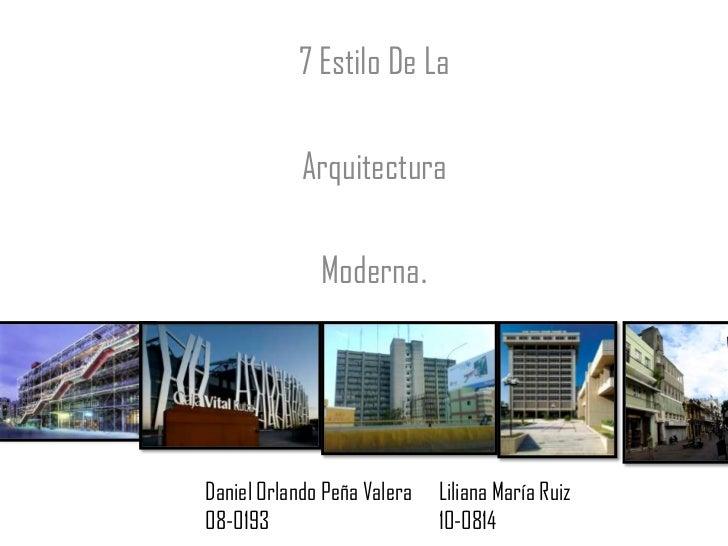 Estilos arquitectonicos for Estilos arquitectonicos contemporaneos