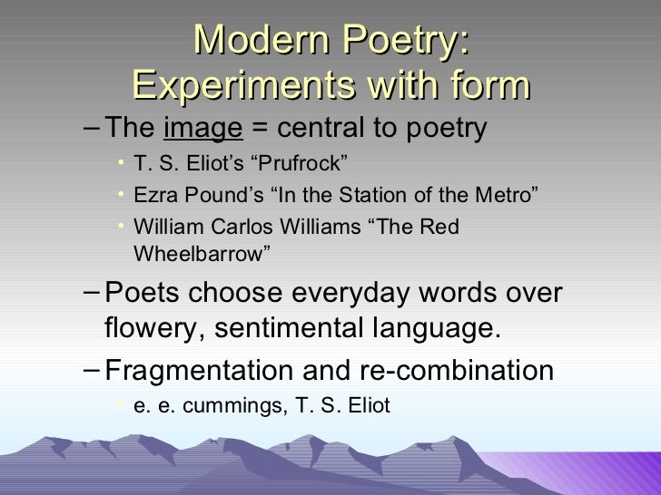 an introduction to the modernism by ezra pound and t s eliot Essays and criticism on ezra pound - pound, ezra (vol 18) pound is the principal inventor of modern poetry, according to which t s eliot called an.