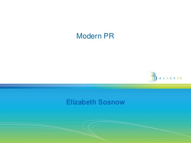 Modern PR
