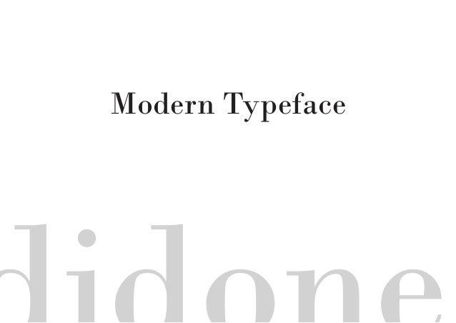 Modern Typeface
