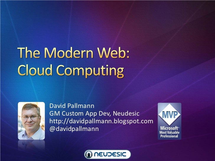 David PallmannGM Custom App Dev, Neudesichttp://davidpallmann.blogspot.com@davidpallmann