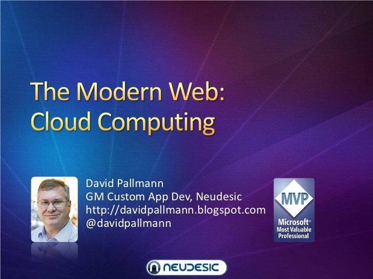 The Modern Web Part 4: Cloud Computing