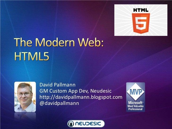 The Modern Web, Part 2: HTML5
