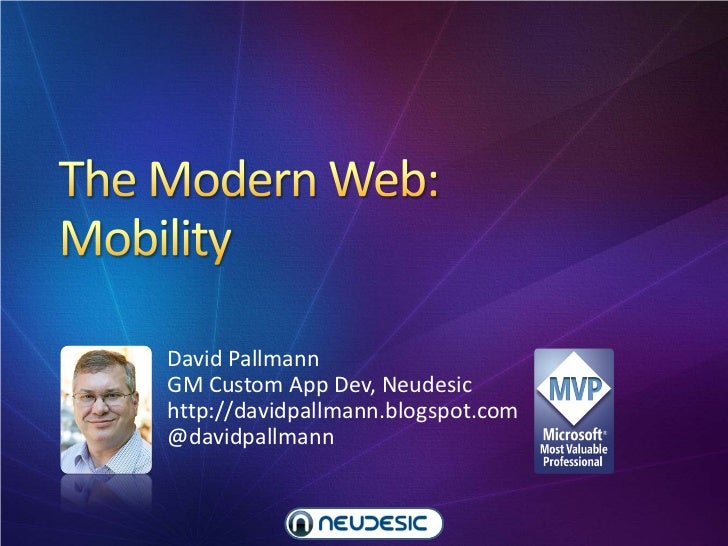 The Modern Web, Part 1: Mobility