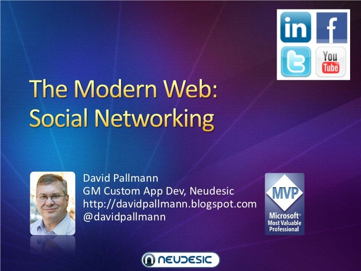The Modern Web Part 3: Social Networking