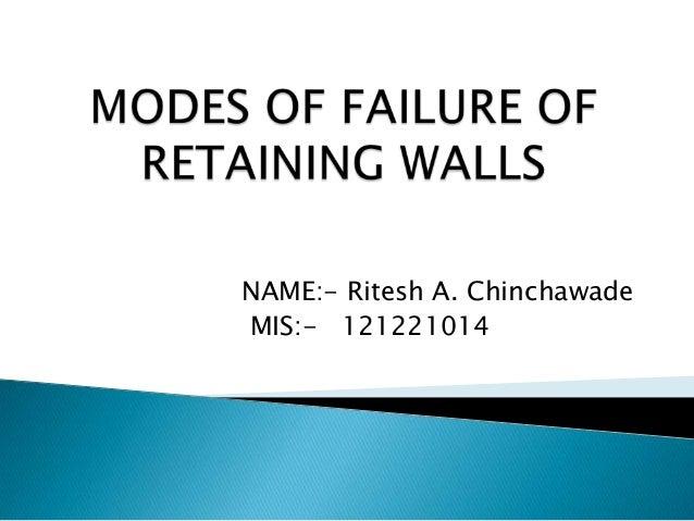 NAME:- Ritesh A. ChinchawadeMIS:- 121221014