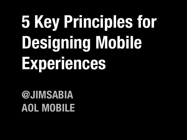 5 Key Principles for Designing Mobile Experiences