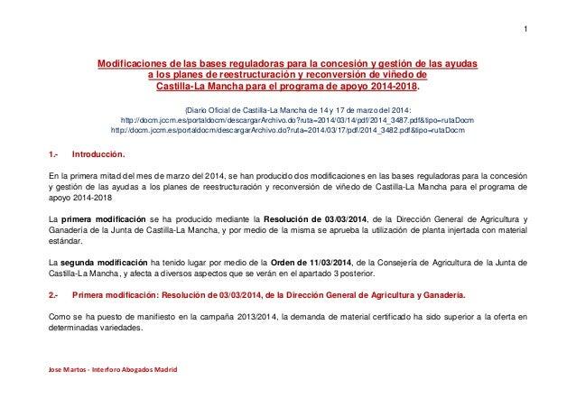 1 Jose Martos - Interforo Abogados Madrid Modificaciones de las bases reguladoras para la concesión y gestión de las ayuda...