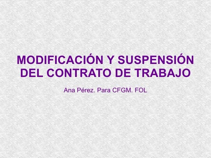 Modificacion y Suspension Del Contato De Trabajo  T5