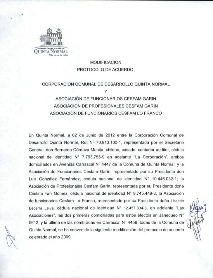 Modificacion protocolo de acuerdo