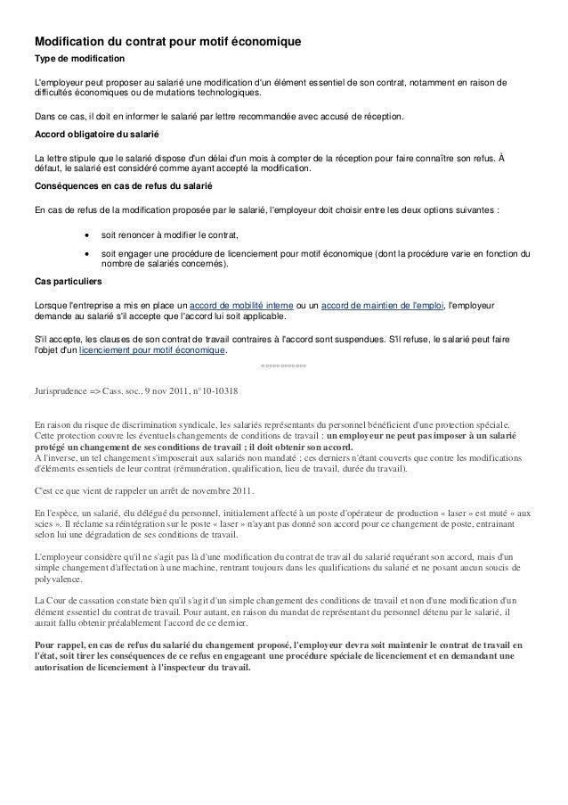 lettre changement de contrat de travail modification contrat de travail a la demande du salarie  lettre changement de contrat de travail