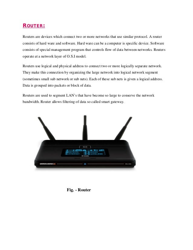 Network Router Device Router Routers Are Devices