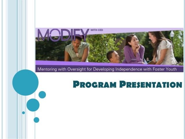 MODIFY program presentation   students