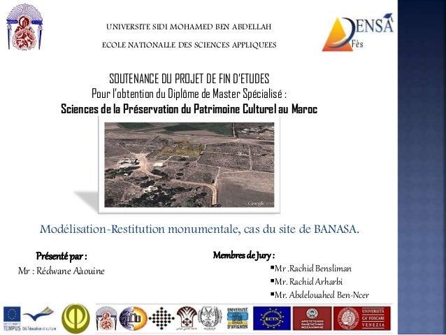 UNIVERSITE SIDI MOHAMED BEN ABDELLAHECOLE NATIONALLE DES SCIENCES APPLIQUEESSOUTENANCE DU PROJET DE FIN D'ETUDESPour l'obt...