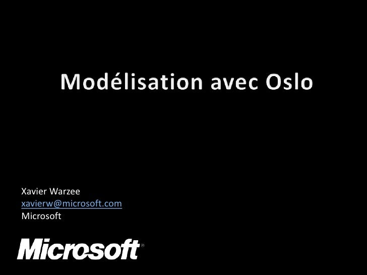 Modéliser le Si avec Microsoft Oslo