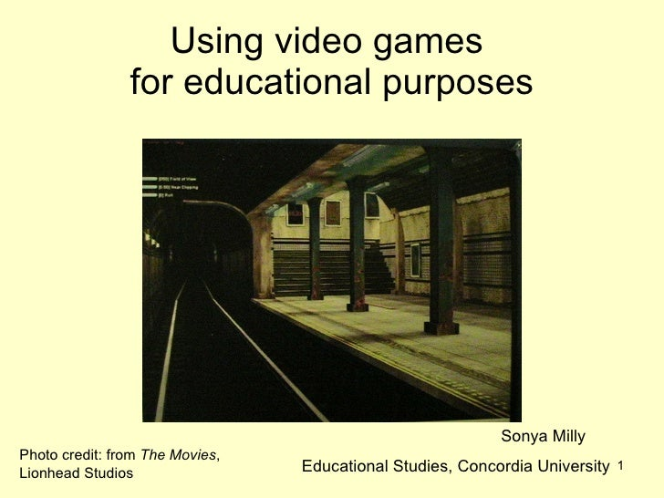 Using video games for educational purposes