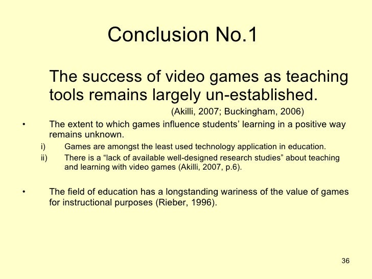 the value of games in education essays