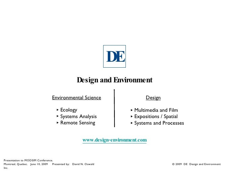 DE                                                  Design and Environment                                  Environmental ...