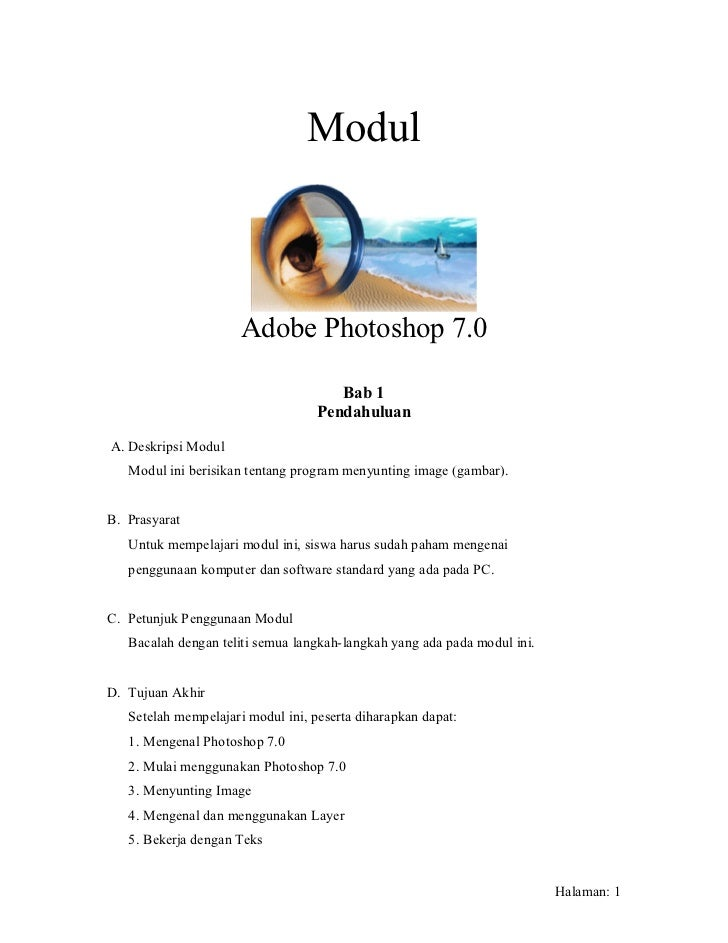 Modul                      Adobe Photoshop 7.0                                      Bab 1                                 ...