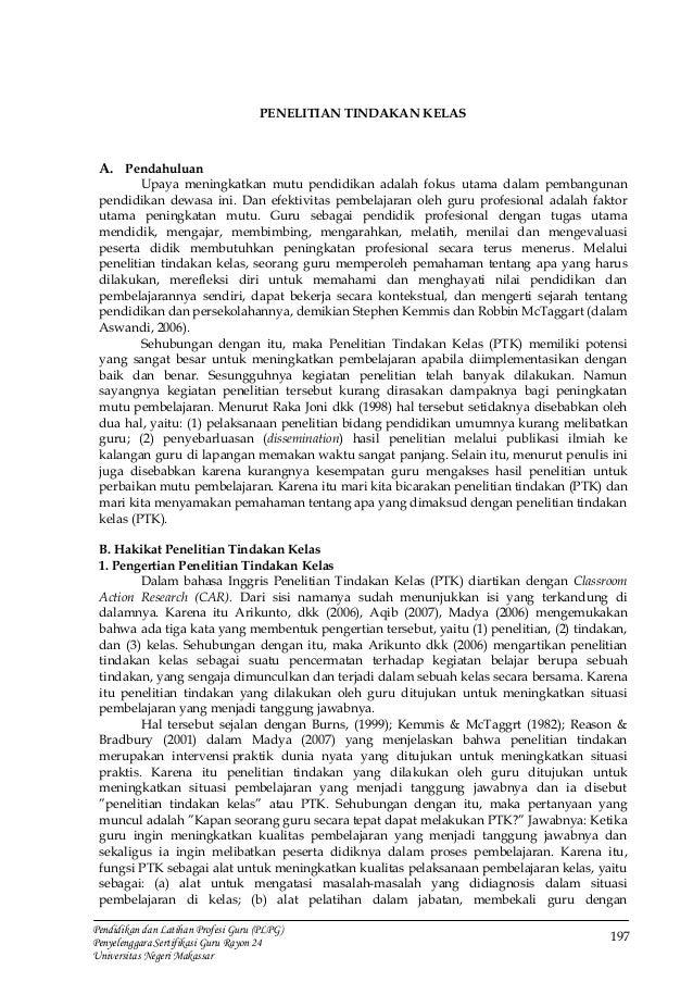 197 Pendidikan dan Latihan Profesi Guru (PLPG) Penyelenggara Sertifikasi Guru Rayon 24 Universitas Negeri Makassar PENELIT...
