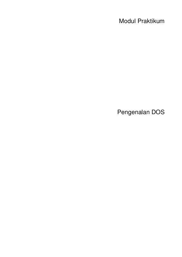 Modul PraktikumPengenalan DOS