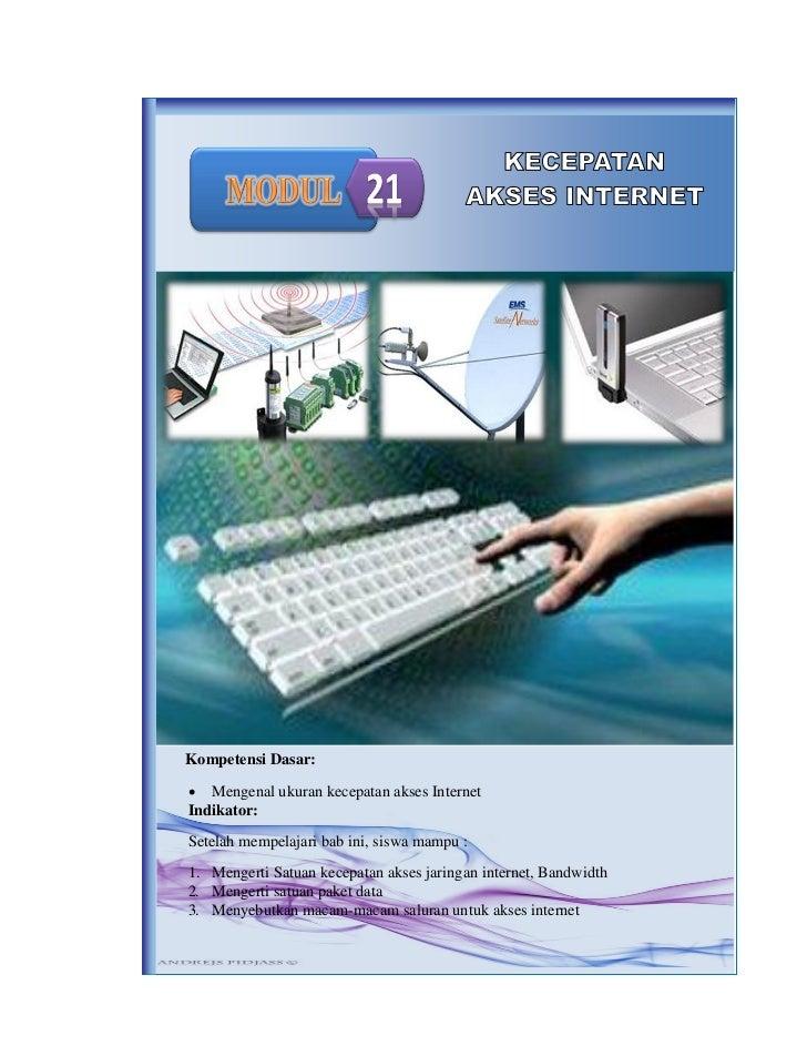 Modul 21 kecepatan akses internet