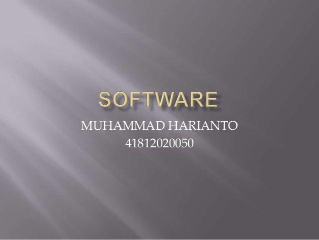 MUHAMMAD HARIANTO    41812020050
