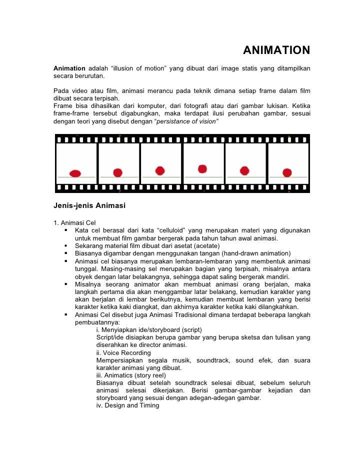 """ANIMATION Animation adalah """"illusion of motion"""" yang dibuat dari image statis yang ditampilkan secara berurutan.  Pada vid..."""