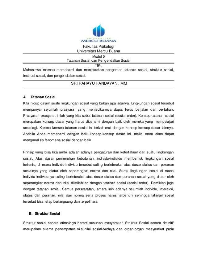 Fakultas Psikologi                                   Universitas Mercu Buana                                   Modul 5    ...