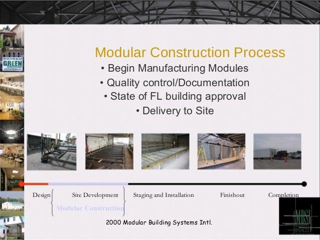 Modular Construction Process•
