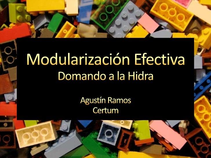 Modularización EfectivaDomando a la Hidra<br />Agustín Ramos<br />Certum<br />