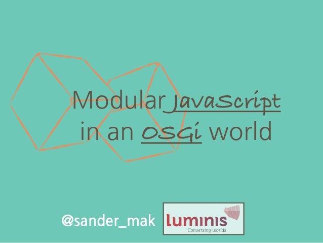 Modular JavaScript in