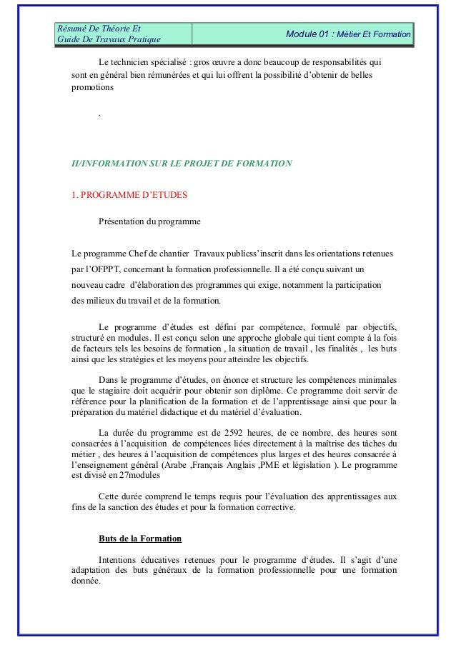 exemple de lettre de motivation ofppt