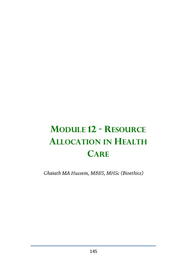 health care resource allocation Laws against health care fraud resource guide 3 exclusion provisions under section 1128 of the social security act, hhs-oig has authority to.